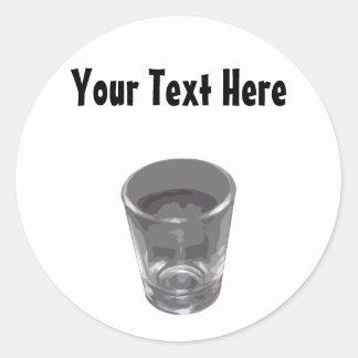 Customizable Silver Shot Glass Sticker