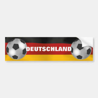 Customizable Silver Soccer Ball Bumper Sticker