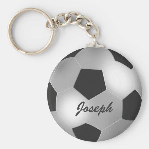 Customizable Silver Soccer Ball keychains