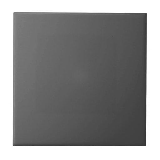 Customizable Simple Dark Gray Tile
