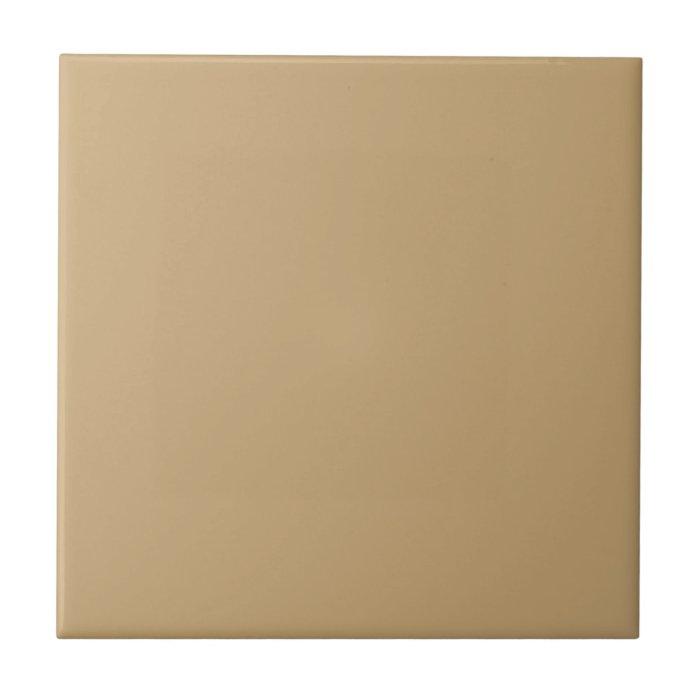 Customizable Simple Light Brown 2 Ceramic Tile