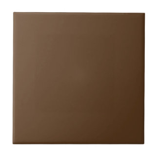 Customizable Simple Mid Brown 2 Tile
