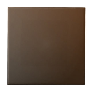 Customizable Simple Mid Brown Gradient Tile
