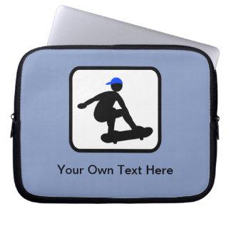 Customizable Skater on Skateboard Logo Computer Sleeves