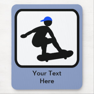 Customizable Skater on Skateboard Logo Mouse Pad