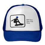 Customizable Skater on Skateboard Logo Trucker Hat