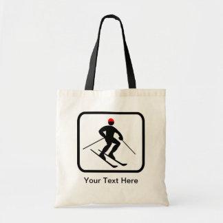 Customizable Skier Logo Tote Bag