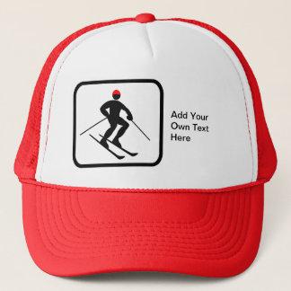 Customizable Skier Logo Trucker Hat
