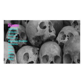 Customizable skull business cards