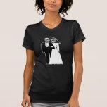 Customizable: Skulls Bride & Groom T-shirt