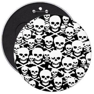 Customizable Skulls & Crossbones Pinback Button