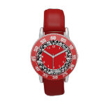 Customizable Skulls & Crossbones Wrist Watch