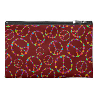 Customizable Skully Flower Power Peace Travel Accessories Bag