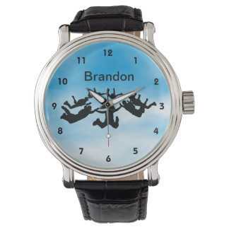 Customizable Sky Diving Design Watch