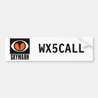 Customizable SKYWARN Call Sign Bumper Sticker Car Bumper Sticker