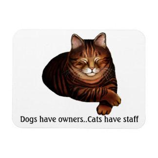 Customizable Sleeping Brown Tabby Cat  Premium Mag Magnet
