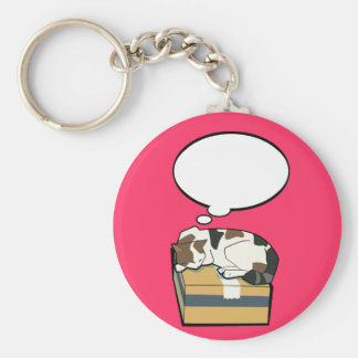 Customizable Sleeping Cat One Key Chain