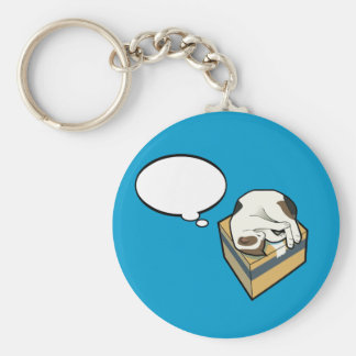 Customizable Sleeping Cat Three Key Chain