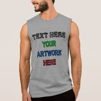 CUSTOMIZABLE Sleeveless Cotton T Shirts for Men