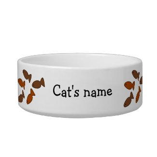 Personalized Cat Bowl with biscuit