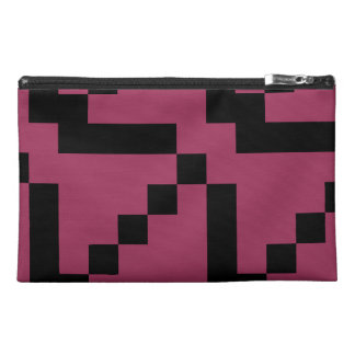 Customizable Small Black Squares on Sangria Travel Accessory Bag
