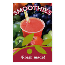 Customizable Smoothie Poster Design