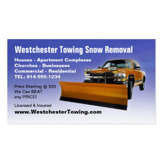 CUSTOMIZABLE Snow Plowing Business Cards