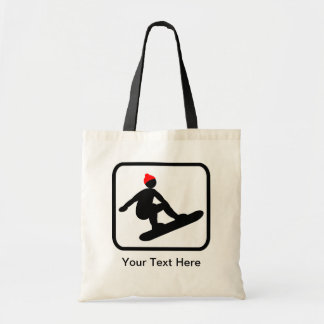 Customizable Snowboarder Logo Tote Bags