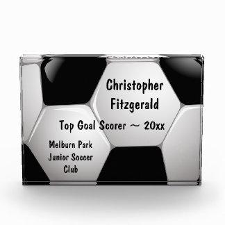 Customizable Soccer Ball Acrylic Award