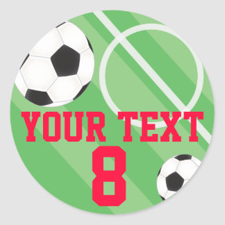 Customizable Soccer Ball Classic Round Sticker