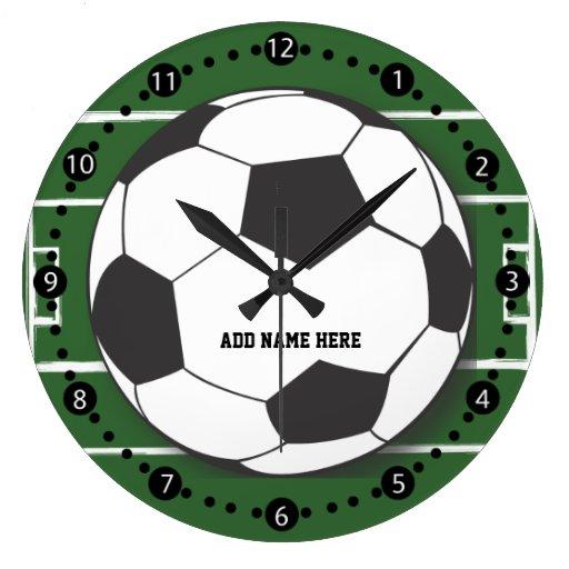 Customizable Soccer Ball Round Wall Clock