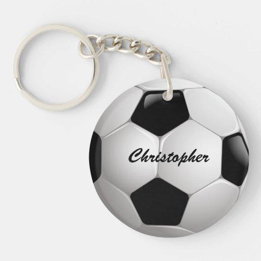 Customizable Soccer Ball Acrylic Keychains