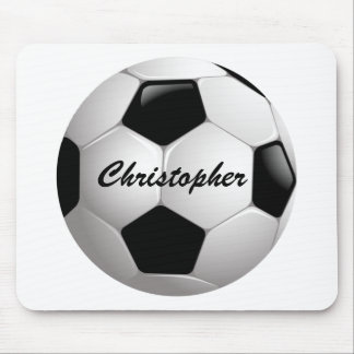 Customizable Soccer Ball Mouse Pads