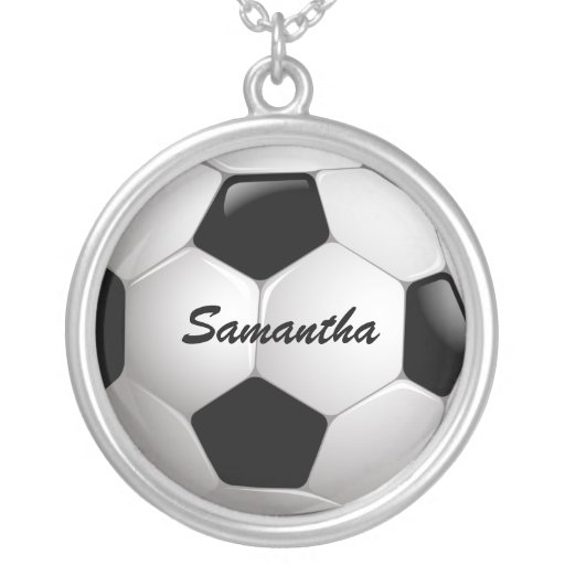 Customizable Soccer Ball Necklaces