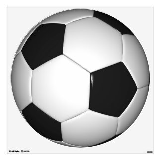 Customizable Soccer Ball Round Wall Decal