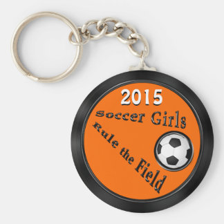 Customizable Soccer Goodie Bag Ideas, YOUR COLORS Basic Round Button Keychain