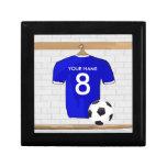 Customizable Soccer Jersey (blue) Keychain Gift Box