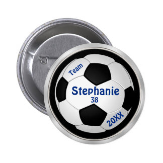 Customizable Soccer Pins YOUR TEXT and COLORS