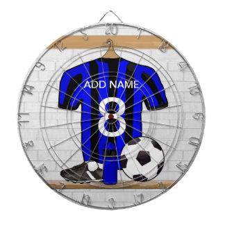 Customizable Soccer Shirt (blue and black ) Dart Board