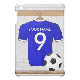 Customizable Soccer Shirt (blue) iPad case