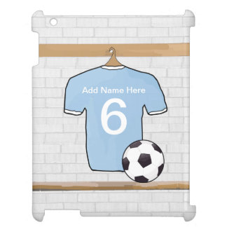 Customizable Soccer Shirt  Sky Blue and White Cover For The iPad