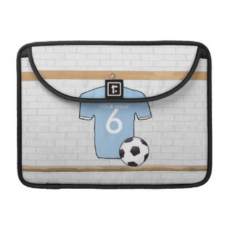Customizable Soccer Shirt  Sky Blue and White Sleeve For MacBook Pro