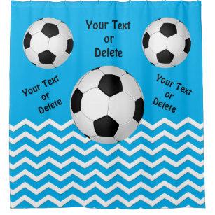 Customizable Soccer Shower Curtain For Girls