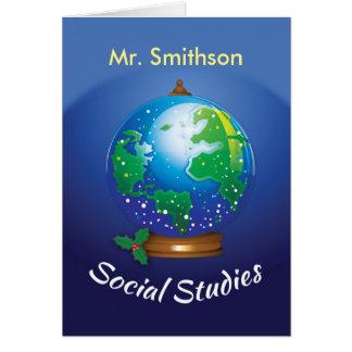 Customizable Social Studies Teacher, Mr. Smithson Card