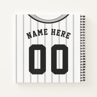 Customizable Softball Baseball Jersey Notebook