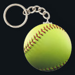 "Customizable Softball Keychain<br><div class=""desc"">Enjoy the game long after the season is over. This softball keychain makes a great gift for players,  coaches,  or fans! photo by KKHPhotos</div>"