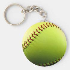 Customizable Softball Keychain at Zazzle