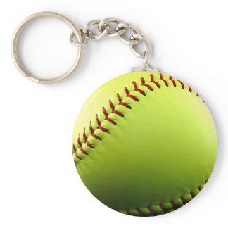 Customizable Softball Keychain