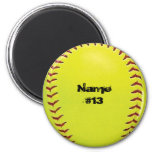Customizable Softball Magnet