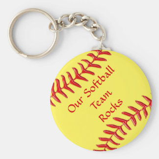 Customizable Softball Party Gifts Cheap Keychains
